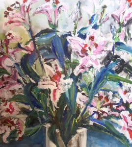 flowers at meadow house by Sally Falkiner